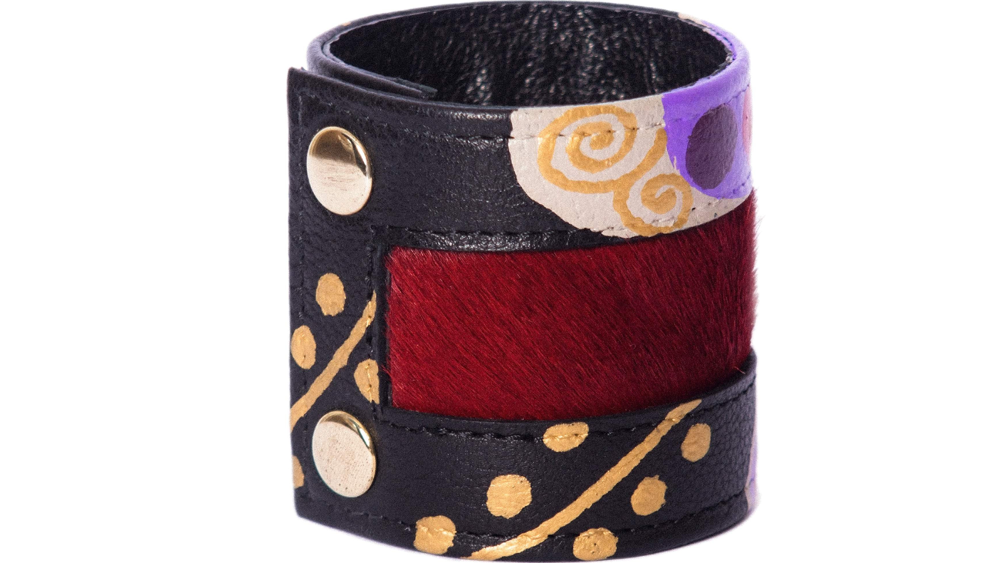 LEATHER BRACELET 12BLR-G-K