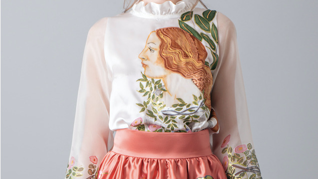 "BLOUSE INSPIRED BY ""THE BIRTH OF VENUS"""