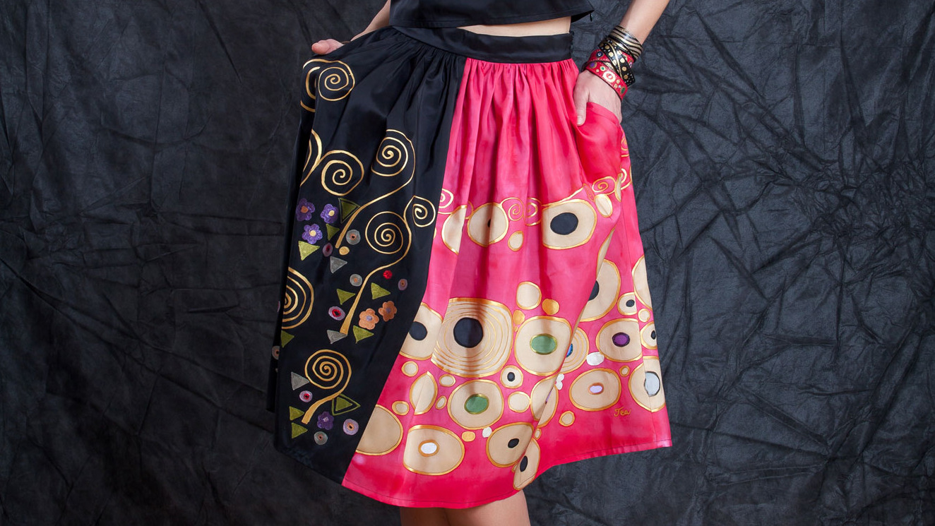 HOPE INSPIRED SILK SKIRT