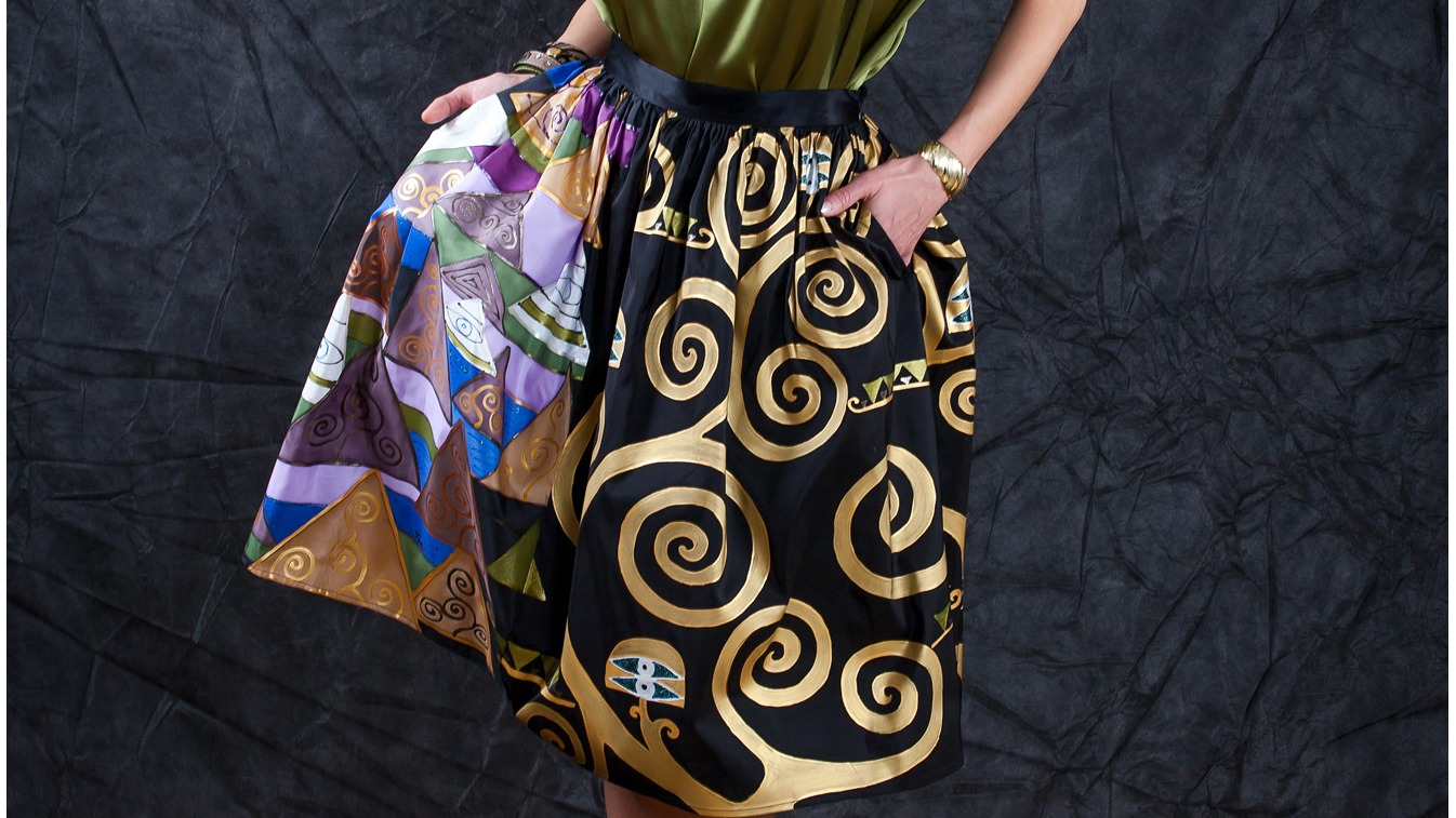 TREE OF LIFE INSPIRED SILK SKIRT